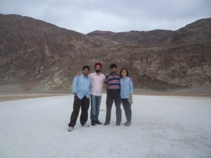 Standing Tall at the Lowest point in Western Hemisphere! Badwater Basin, Death Valley Vishwa, karan, Ritadhi and Mingjiao
