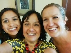 Staff Coffee Hour Organizers Laura Berman, Liliana Cardile & Breidi Truscott Roberts