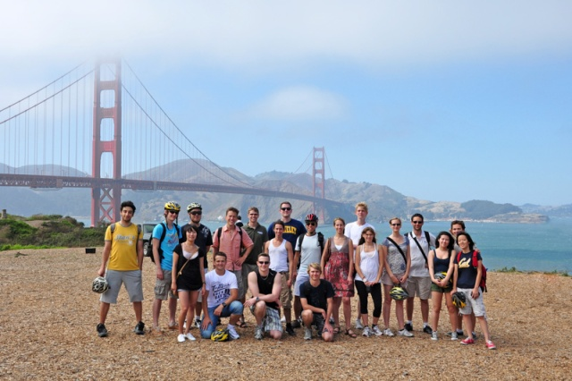 I-House Golden Gate Bridge bike ride