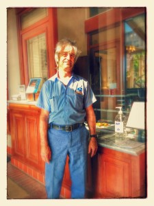 Mailman Richard and his psychedelic haircut