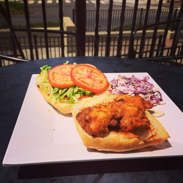 This week the I-House Café special is a Fried Chicken Sandwich on ciabatta with coleslaw – $8.75. Special for Aug. 11-15.