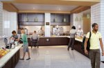 Architectural rendering of the new food service area