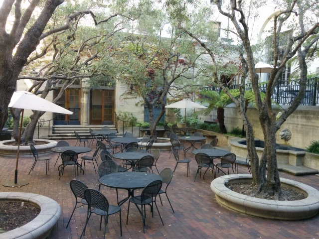 I-House Heller Patio almost ready for this coming Sunday reception