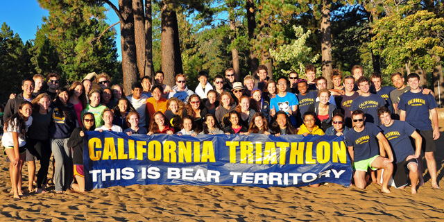 A couple I-House friends and me joined the Cal Triathlon Team. Fall Camp at Lake Tahoe.