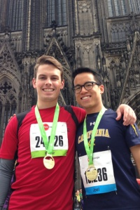 Ran the Cologne Half Marathon with an I-House friend two weeks ago