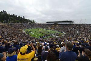 Cal Memorial Stadium on Game Day
