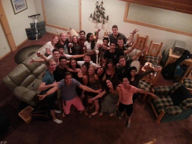 Having a blast in Tahoe with I-House friends