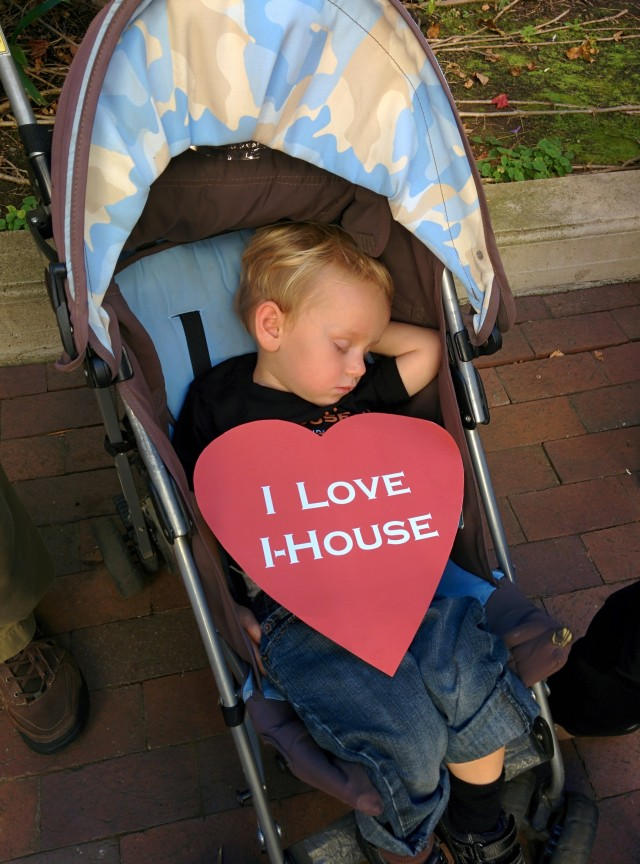 Little Ulisse loves I-House and meeting I-House residents from all over the world