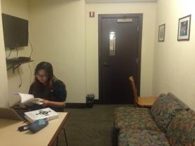 Working Hard! The Sixth Floor lounge