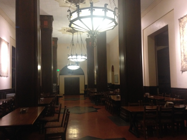 Awaiting in all its grandeur! The Dining Commons after 9p