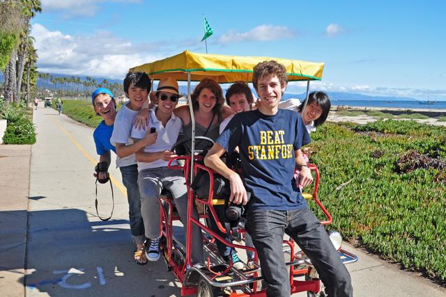 Cruising on a quadricycle along the beach