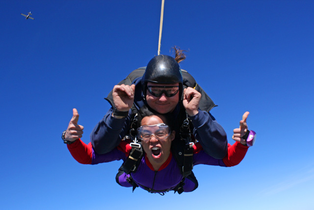 Skydiving in Lodi, California.