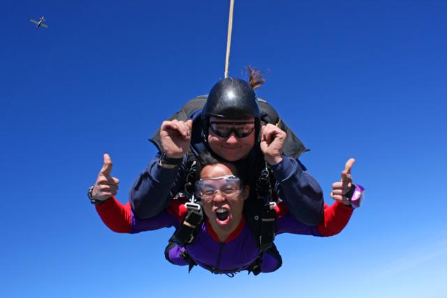 Skydiving in Lodi, California.