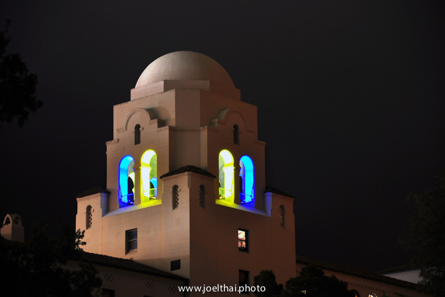 Blue & Gold I-House Dome. Click to enlarge. http://joelthai.photo