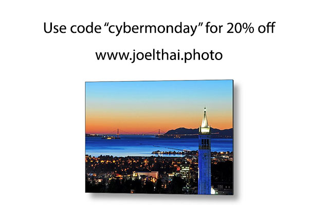 "Use code ""cybermonday"" for -20% at www.joelthai.photo! Until Sunday!"