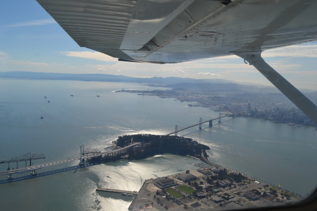 Flying over the Treasure Island