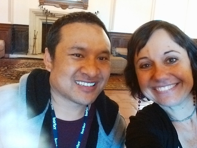 first selfie at I-House for Jigme and Liliana