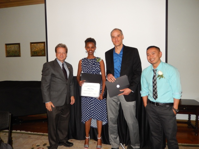 Receiving my ILI Certificate at our graduation ceremony