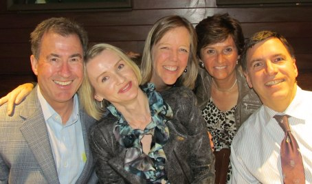 With I-House alums Peter Pinsky (and his wife Tatyana), Kate Harrison, and Dean Kardassakis - Berkeley 2014