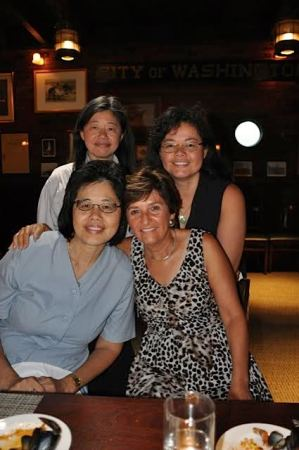 With Minnie, Carol and Susanna Loo in Berkeley 2014