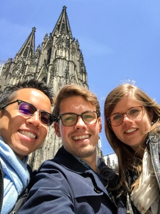 Group Selfie with the Cathedral
