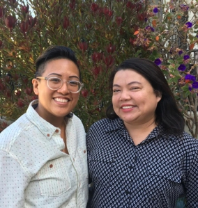 Kimi Mojica, Student Engagement Officer and Larnie Macasieb, Program Office Manager