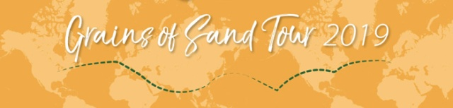 Follow the 100,000 Grains of Sand tour on Facebook.