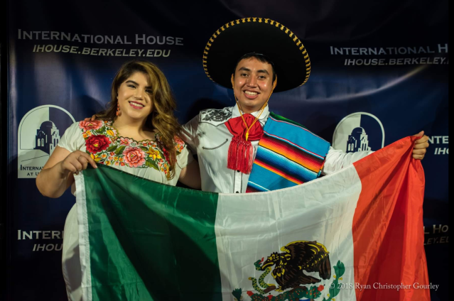 Monique and Ricardo representing Mexico in the Global Homecoming Fashion Show