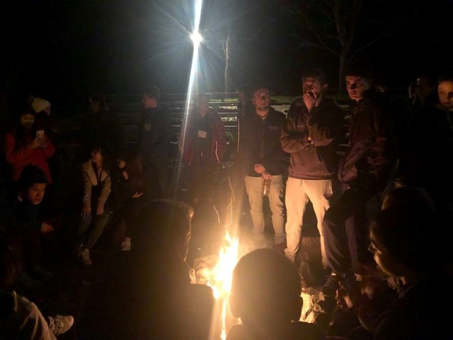 Bonfire at International House Retreat