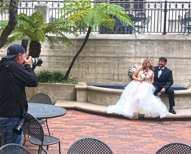 Dania and Zunaid on their wedding day
