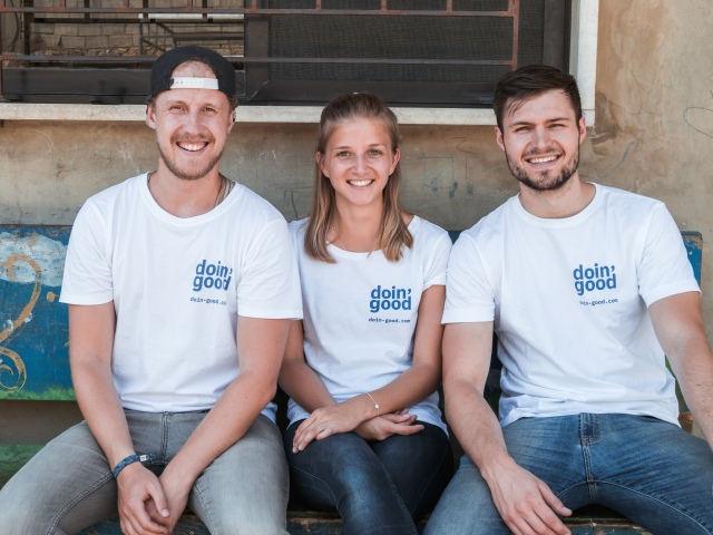 Malte, Meike and Patrick from the doin' good team during their time in Lebanon